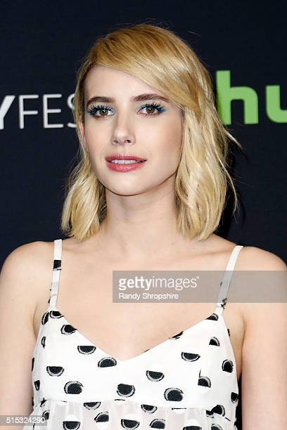 Emma Roberts attends The Paley Center for Media's 33rd Annual PaleyFest Los Angeles Scream Queens at Dolby Theatre on March 12 2016 in Hollywood...