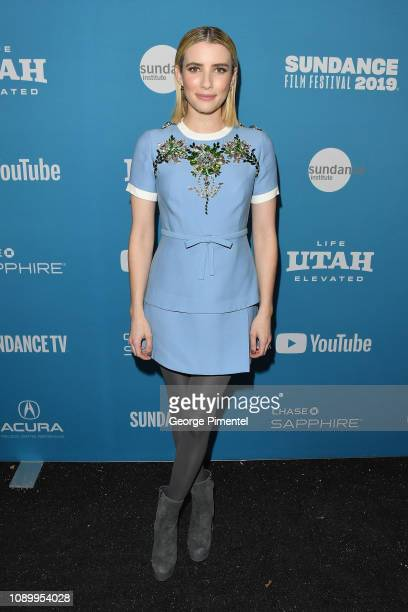 Emma Roberts attends the Paradise Hills Premiere during the 2019 Sundance Film Festival at Library Center Theater on January 26 2019 in Park City Utah