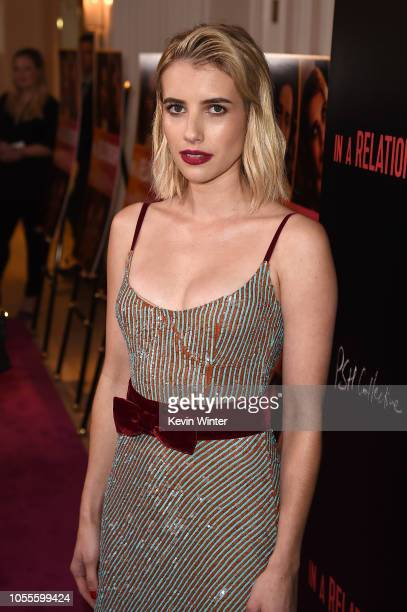Emma Roberts attends the premiere for In A Relationship presented by Vertical Entertainment at The London Hotel on October 30 2018 in West Hollywood...