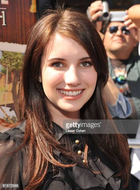 Emma Roberts attends the premiere of Kit Kittredge An American Girl at The Grove on June 14 2008 in Los Angeles California