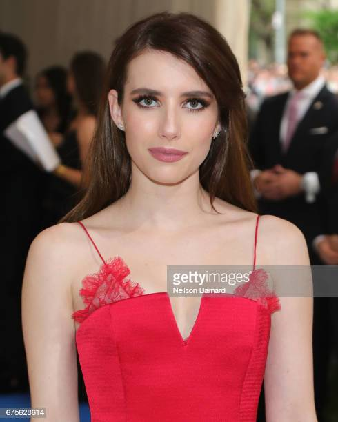 Emma Roberts attends the Rei Kawakubo/Comme des Garcons Art Of The InBetween Costume Institute Gala at Metropolitan Museum of Art on May 1 2017 in...