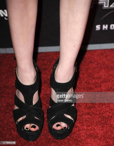 Emma Roberts attends the Scre4m Los Angeles Premiere at Grauman's Chinese Theatre on April 11 2011 in Hollywood California