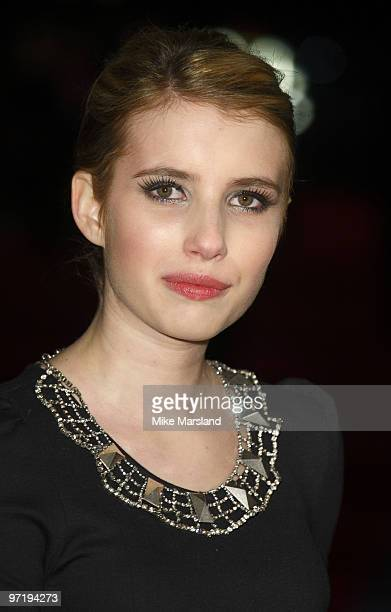 Emma Roberts attends the UK Premiere of 'Valentine's Day' at Odeon Leicester Square on February 11, 2010 in London, England.