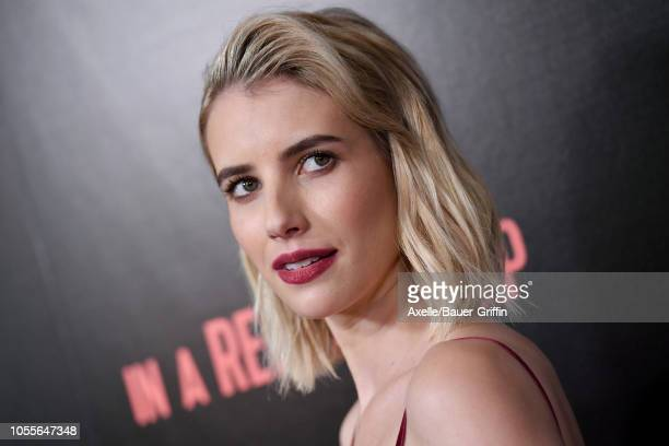 Emma Roberts attends Vertical Entertainment's 'In A Relationship' Premiere at The London Hotel on October 30 2018 in West Hollywood California
