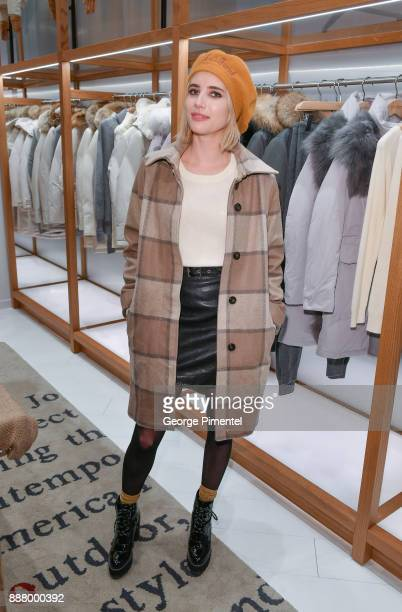 Emma Roberts attends Woolrich Yorkdale Grand Opening at Yorkdale Shopping Center on December 7 2017 in Toronto Canada