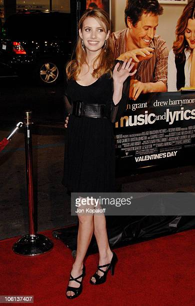 Emma Roberts during 'Music and Lyrics' Los Angeles Premiere Arrivals at Grauman's Chinese Theatre in Hollywood California United States