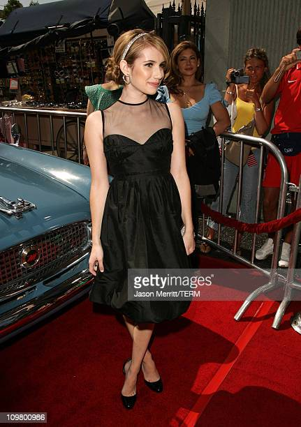 Emma Roberts during Nancy Drew Los Angeles Premiere Red Carpet at Grauman's Chinese Theater in Hollywood California United States