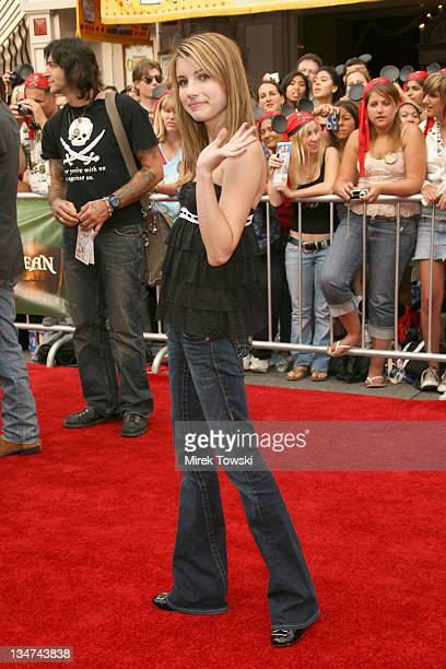 """Emma Roberts during """"Pirates of the Caribbean: Dead Man's Chest"""" Los Angeles Premiere - Arrivals at Main Street USA, Disneyland in Anaheim,..."""
