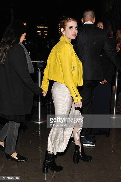 Emma Roberts is seen arriving at The Standard High Line on May 2 2016 in New York City