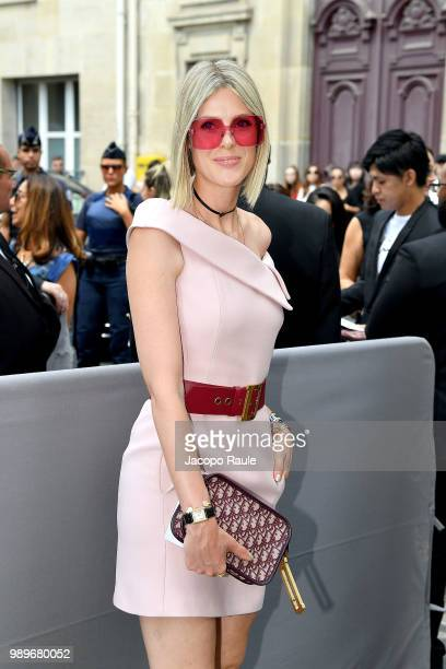 Emma Roberts is seen at the Christian Dior Haute Couture Fall Winter 2018/2019 Show on July 2 2018 in Paris France