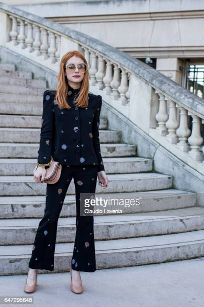 Emma Roberts is seen before the Chloe show during Paris Fashion Week Womenswear Fall/Winter 2017/2018 on March 2 2017 in Paris France