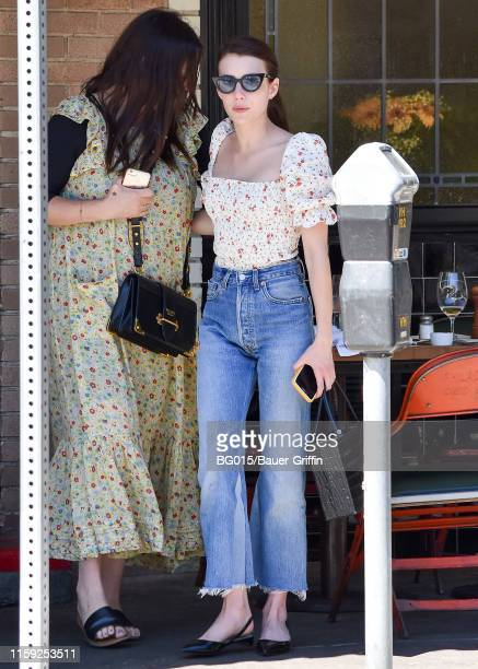Emma Roberts is seen on August 02, 2019 in Los Angeles, California.