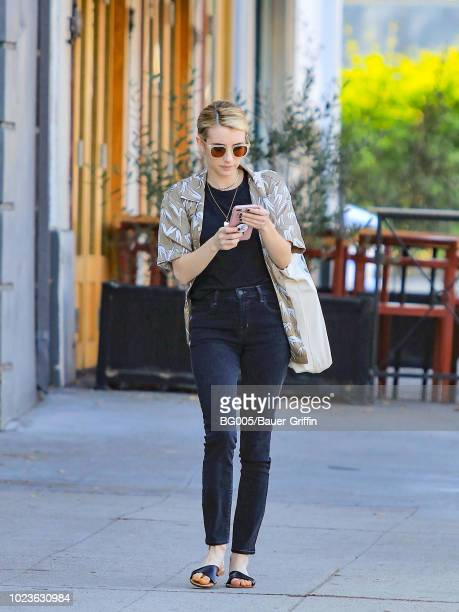 Emma Roberts is seen on August 25 2018 in Los Angeles California