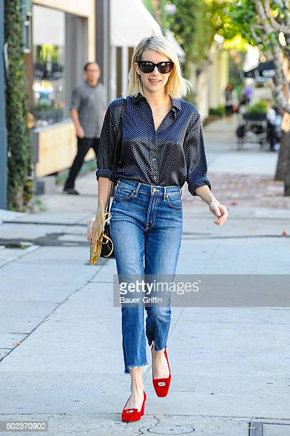 Emma Roberts is seen on December 23 2015 in Los Angeles California