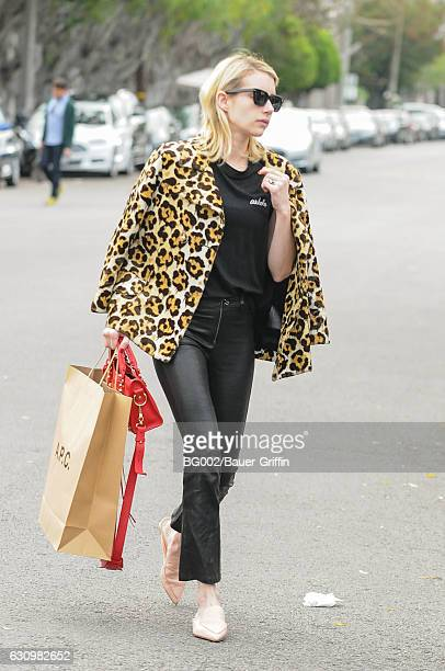 Emma Roberts is seen on January 04 2017 in Los Angeles California