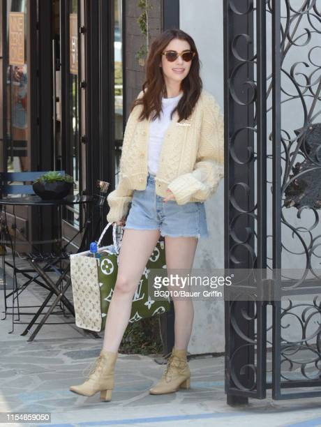 Emma Roberts is seen on July 08, 2019 in Los Angeles, California.