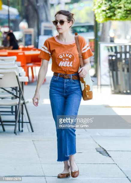 Emma Roberts is seen on September 20 2019 in Los Angeles California