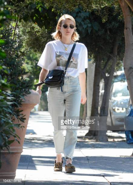 Emma Roberts is seen on September 29 2018 in Los Angeles California
