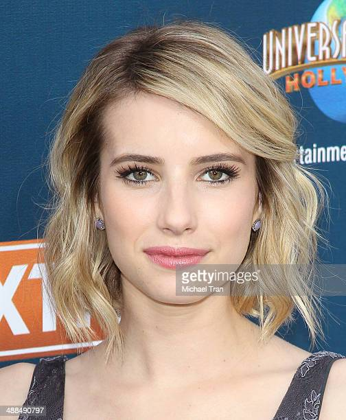Emma Roberts makes appearance on Extra held at Universal City Walk on May 6 2014 in Universal City California