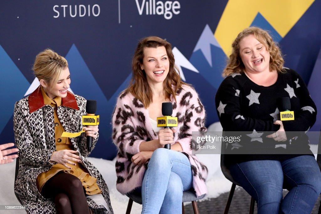 Emma Roberts Milla Jovovich And Danielle Macdonald Of Paradise