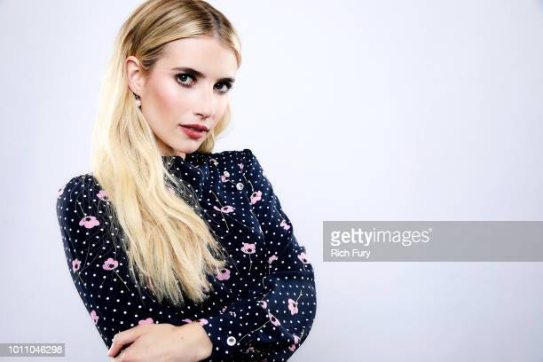 Emma Roberts of FX's 'American Horror Story Apocalypse' poses for a portrait during the 2018 Summer Television Critics Association Press Tour at The...