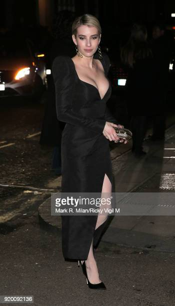Emma Roberts seen at BAFTAs official afterparty after attending the EE British Academy Film Awards at the Royal Albert Hall on February 18 2018 in...