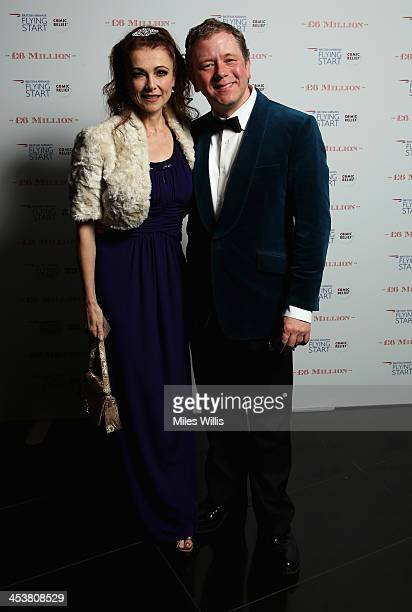 Emma Samms and Jon Culshaw attends the British Airways 'Milestone in the Sky' event at 30 St Mary Axe on December 5 2013 in London England Milestone...