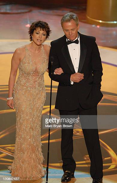 Emma Samms and Tristan Rogers presenters during 33rd Annual Daytime Emmy Awards Show at Kodak Theatre in Hollywood CA United States