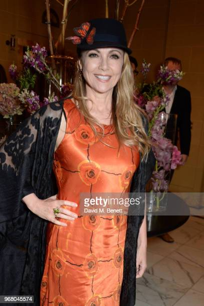 Emma Samms attends an after party following the UK Premiere of 'The Happy Prince' hosted by Justine Picardie editor of Harper's Bazaar at Cafe Royal...