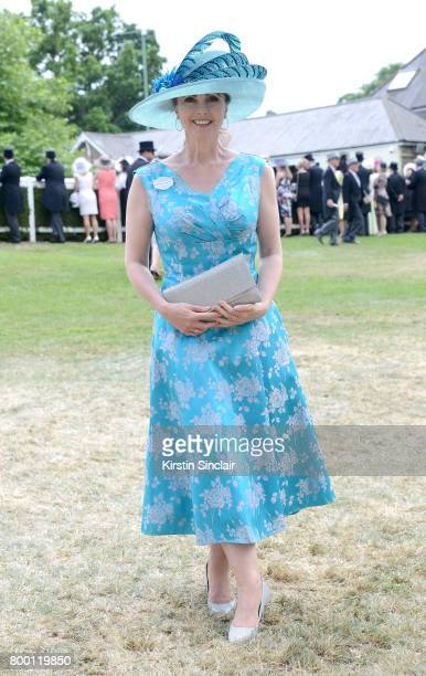 Emma Samms attends day 4 of Royal Ascot at Ascot Racecourse on June 23 2017 in Ascot England