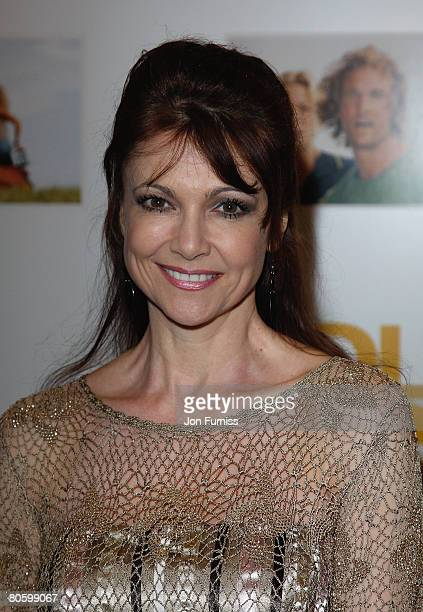 Emma Samms attends the Fool's Gold film premiere held at the Vue West End in Leicester Square on April 10 2008 in London England