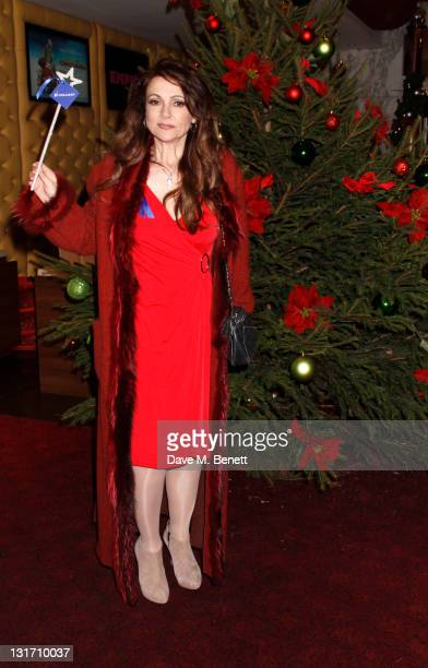Emma Samms attends the UK Premiere of Arthur Christmas at the Empire Leicester Square on November 6 2011 in LondonEngland