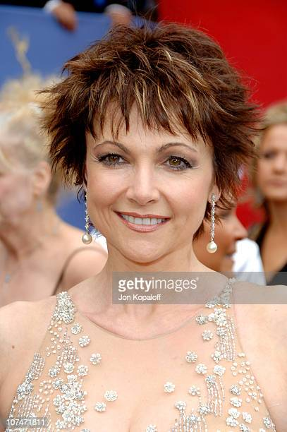 Emma Samms during 33rd Annual Daytime Emmy Awards Arrivals at Kodak Theater in Hollywood California United States