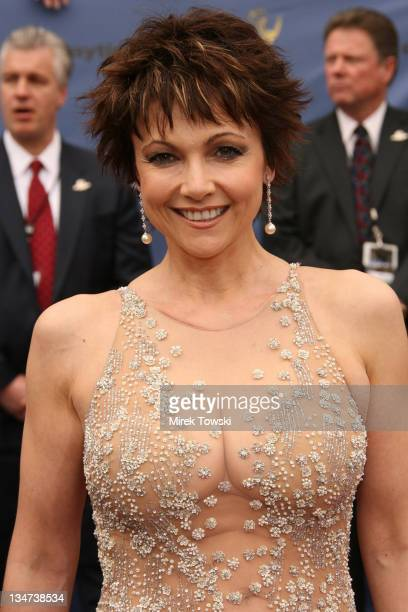 Emma Samms during The 33rd Annual Daytime Emmy Awards Arrivals at Hollywood Kodak Theater in Hollywood California United States
