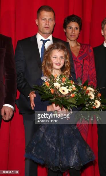 Emma Schweiger and Till Schweiger attend 'Kokowaeaeh 2' Germany Premiere at Cinestar Potsdamer Platz on January 29 2013 in Berlin Germany