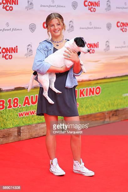 Emma Schweiger attends ConniCo World Premiere at Cinestar Potsdamer Platz on August 13 2016 in Berlin Germany