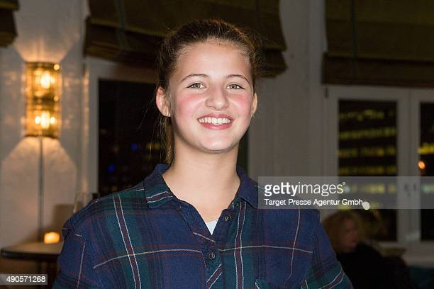 Emma Schweiger attends the charity event 'Ein Abend der Magie' by Tom Tailor at Soho House on September 29 2015 in Berlin Germany