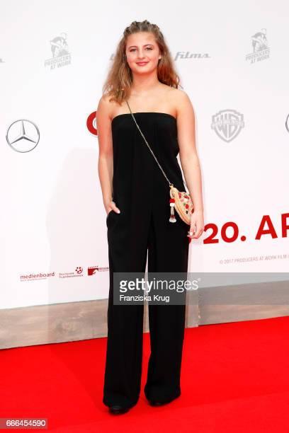 Emma Schweiger attends the 'Conni Co 2 Das Geheimnis des TRex' premiere on April 9 2017 in Berlin Germany