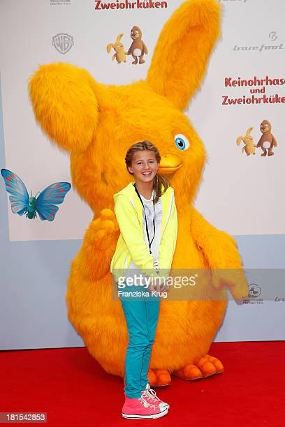 Emma Schweiger attends the 'Keinohrhase und Zweiohrkueken' Premiere at CineStar on September 22 2013 in Berlin Germany