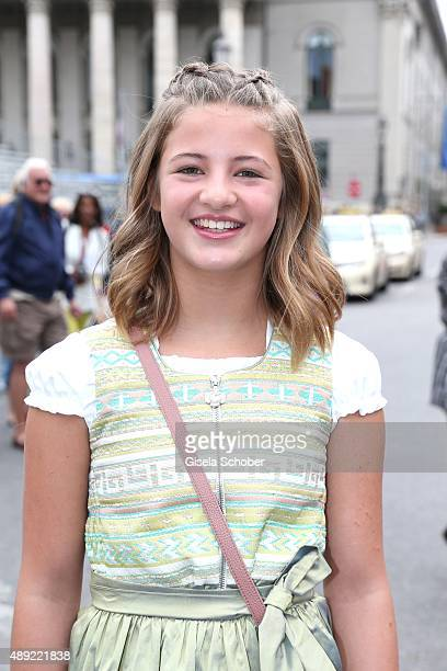 Emma Schweiger during the 'Fruehstueck bei Tiffany' at Tiffany Store ahead of the Oktoberfest 2015 on September 19 2015 in Munich Germany