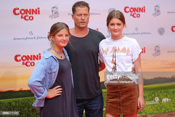 Emma Schweiger Til Schweiger and Lilli Schweiger attend ConniCo World Premiere at Cinestar Potsdamer Platz on August 13 2016 in Berlin Germany