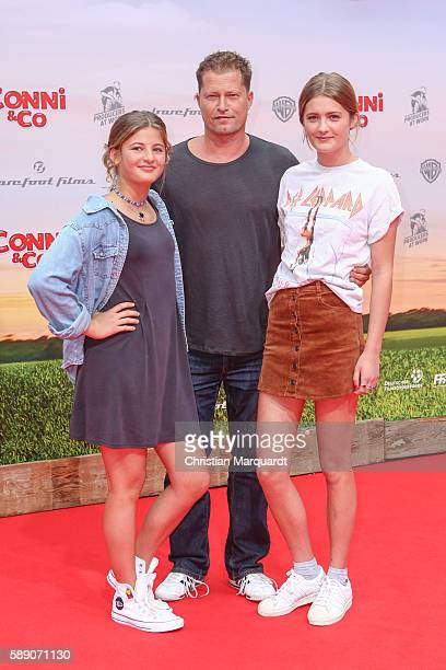 Emma Schweiger Til Schweiger and Lilli Schweiger attend ConniCo World Premiere at Cinestar Potsdamer Platz on August 13 2016 in Berlin Germany