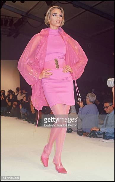 Emma Sjoberg Claude Montana ready to wear fashion show spring summer 1992 collection in Paris