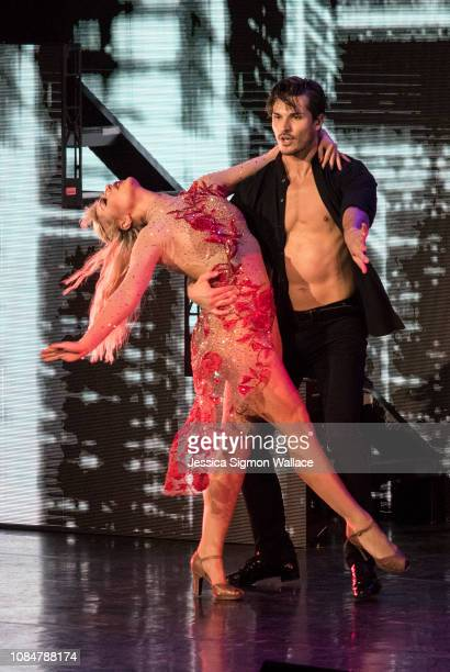 Emma Slater and Gleb Savchenko of Dancing with the Stars perform onstage at Von Braun Center on December 19 2018 in Huntsville Alabama