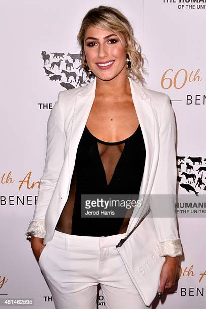 Emma Slater attends the Humane Society of the United States 60th Anniversary Benefit Gala at The Beverly Hilton Hotel on March 29, 2014 in Beverly...