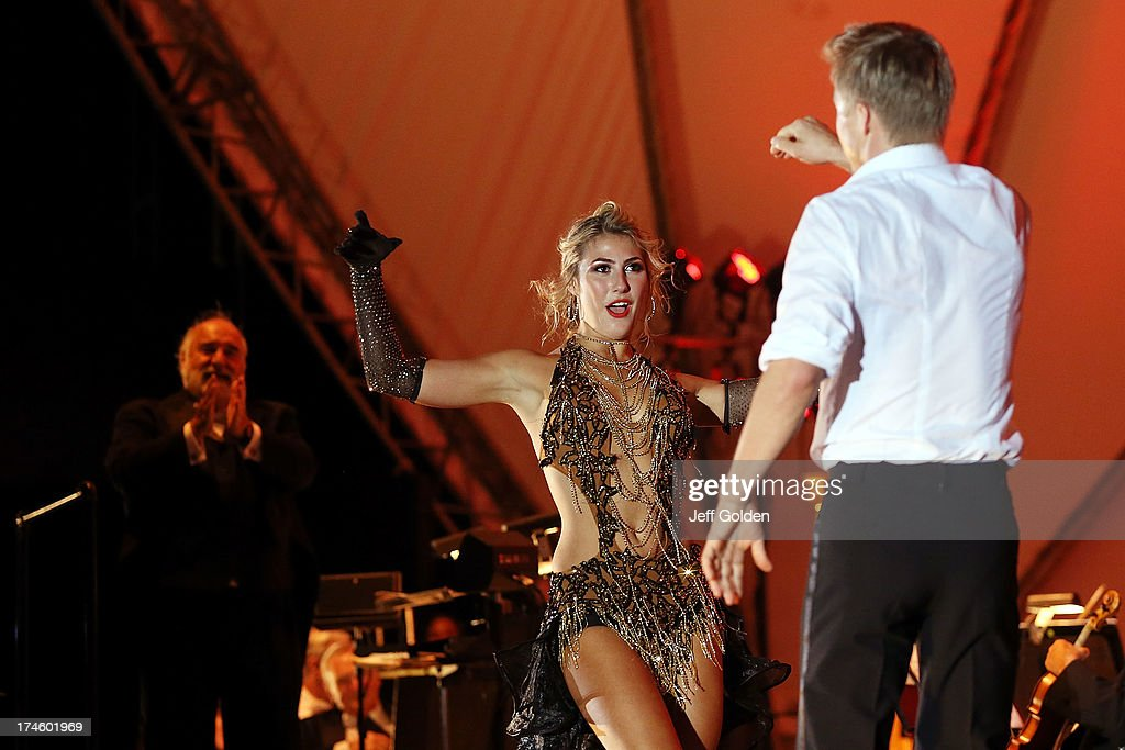 Emma Slater Dances With Partner Derek Hough To Glenn