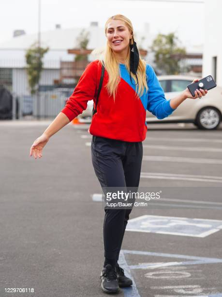 Emma Slater is seen outside 'Dancing with the Stars' rehearsal studio on November 20 2020 in Los Angeles California