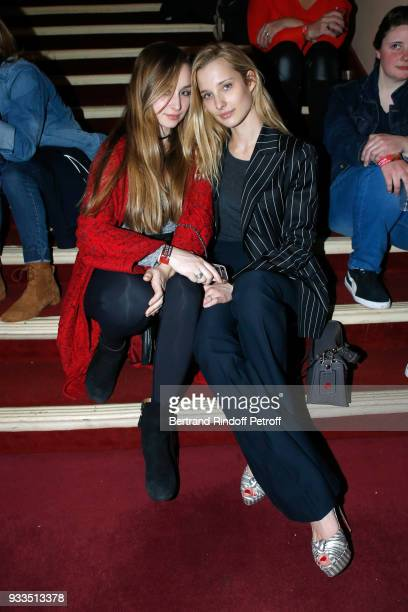 Emma Smet and her sister Ilona Smet attend Sylvie Vartan performs at Le Grand Rex on March 16 2018 in Paris France