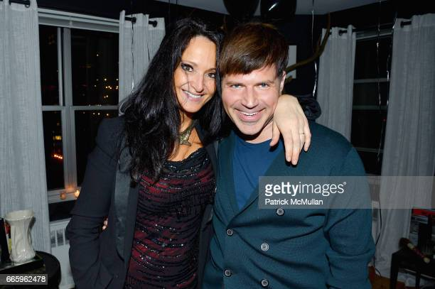 Emma Snowden Jones and Jason Hoffman attend Deborah Hughes Birthday Celebration at Private Residence on April 6 2017 in New York City