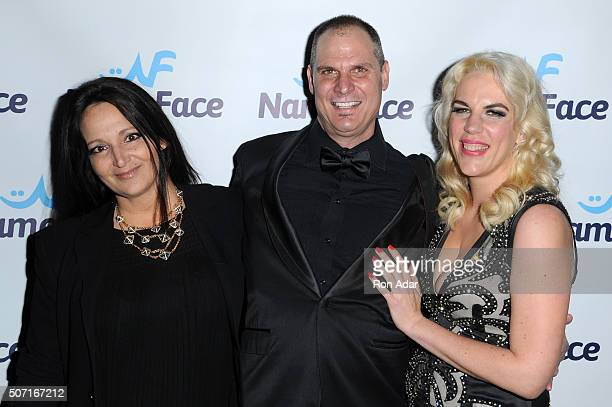 Emma Snowden Jones Photographer Steve Eichner and Developer Daniela Kirsch attend the NameFacecom launch at No 8 on January 27 2016 in New York City